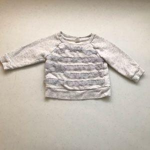 💥4/$20💥 OLD NAVY ruffle front sweatshirt